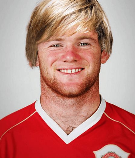 Wayne Rooney som ler