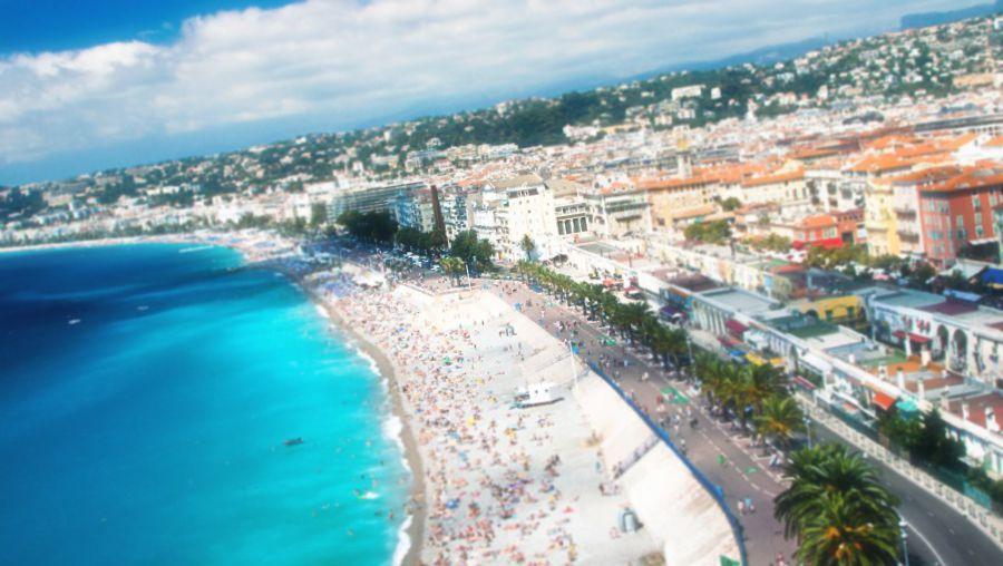 En vacker vy över staden Nice
