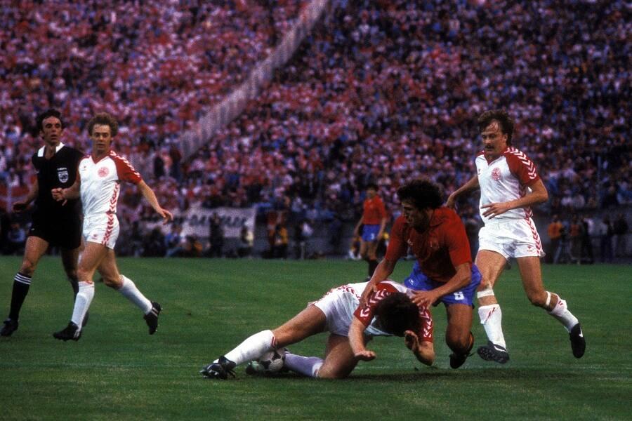 Danmark mot Spanien i EM 1984