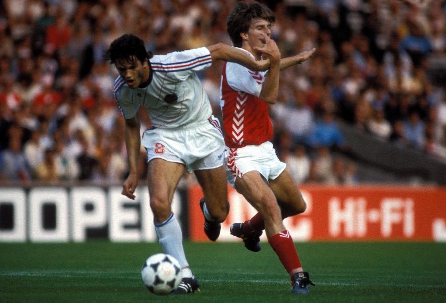 Danmark mot Jugoslavien under EM 1984