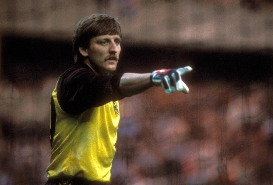 Qvist i målet i Danmark 1984