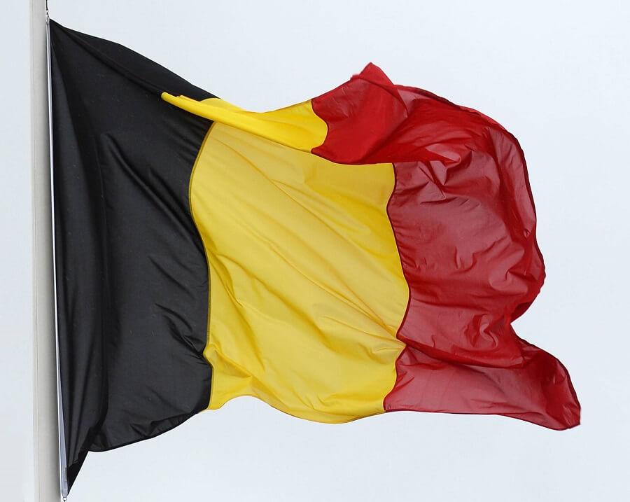 Flaggan från Belgien