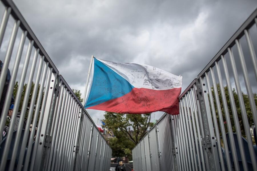 Tjeckien - flagga
