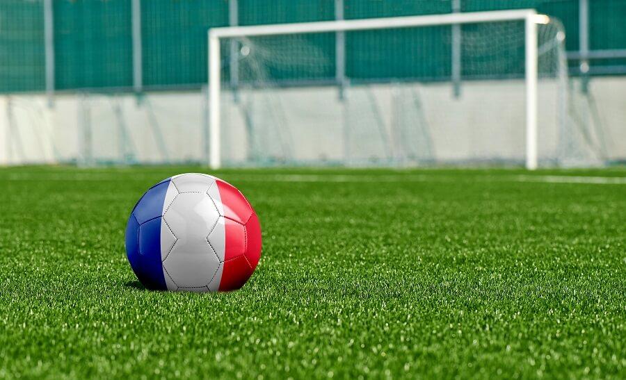Bild gräsplan med fransk fotboll - schema EM 2016