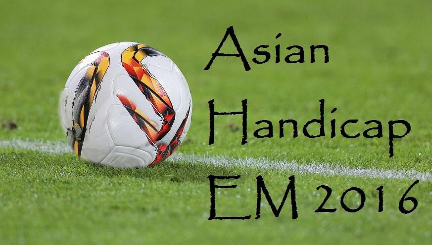 """Bild fotboll och uttrycket """"Asian Handicap 2016"""""""