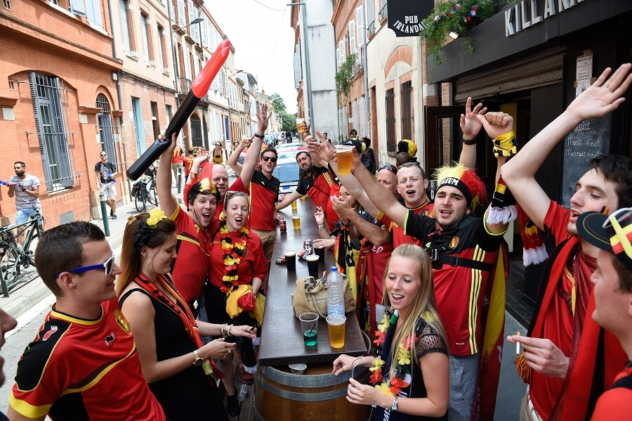 Belgium before match