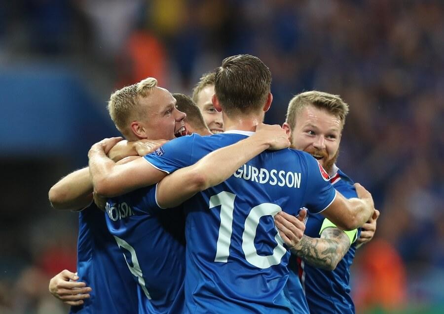 Island efter ett mål - segerjubel
