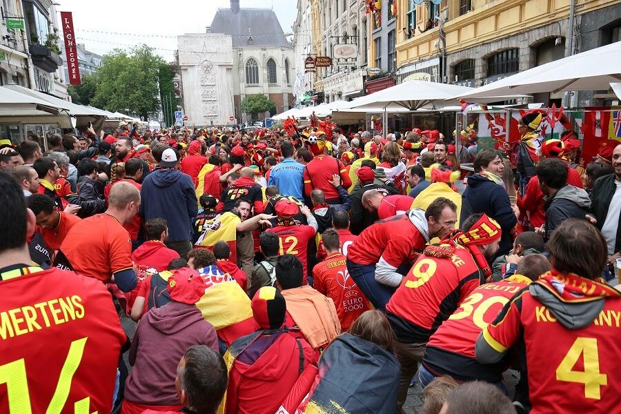 Belgiens publik inför dagens match