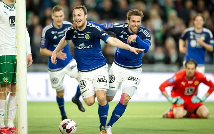 Rúnar Már Sigurjónsson i aktion i Allsvenskan.