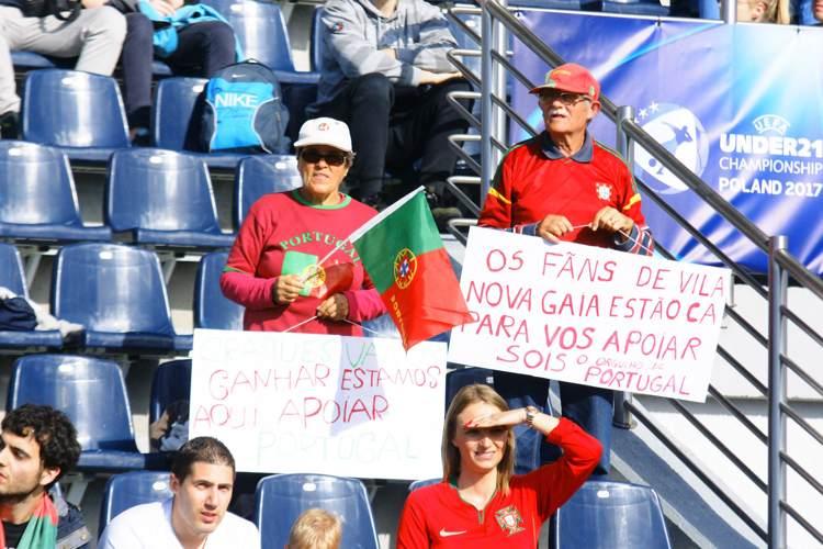 Portugal fans på arenan