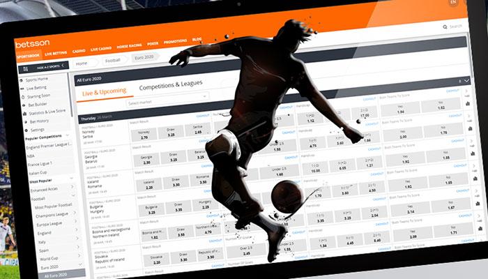 Bettingbolagen med bäst odds på fotbolls EM 2020